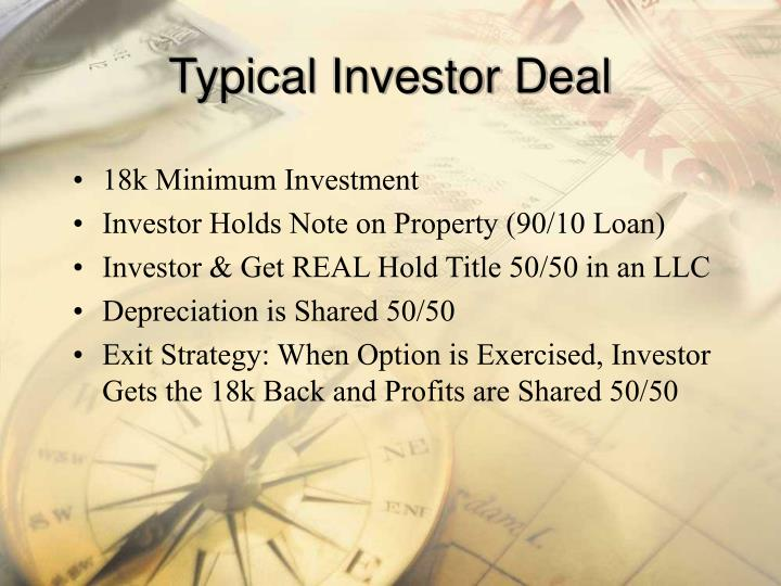 Typical Investor Deal