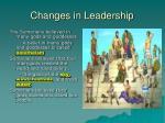 changes in leadership