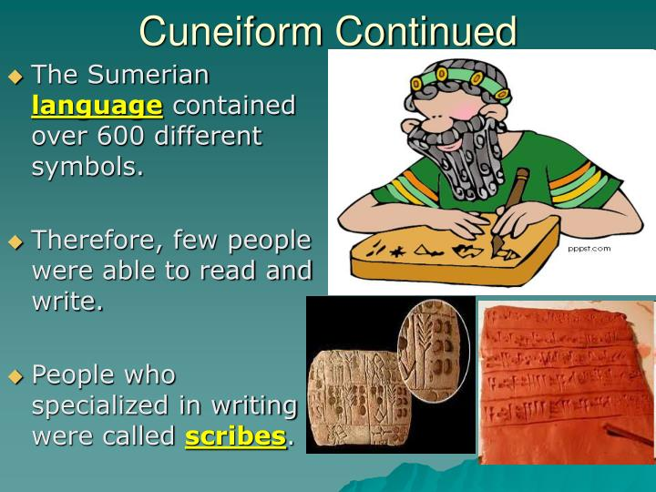 Cuneiform Continued