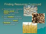 finding resources continued