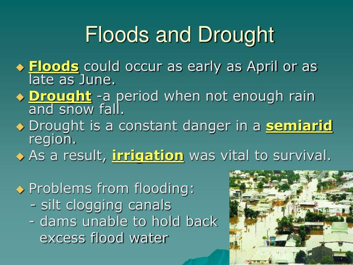 Floods and Drought
