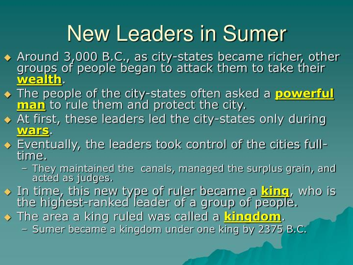 New Leaders in Sumer