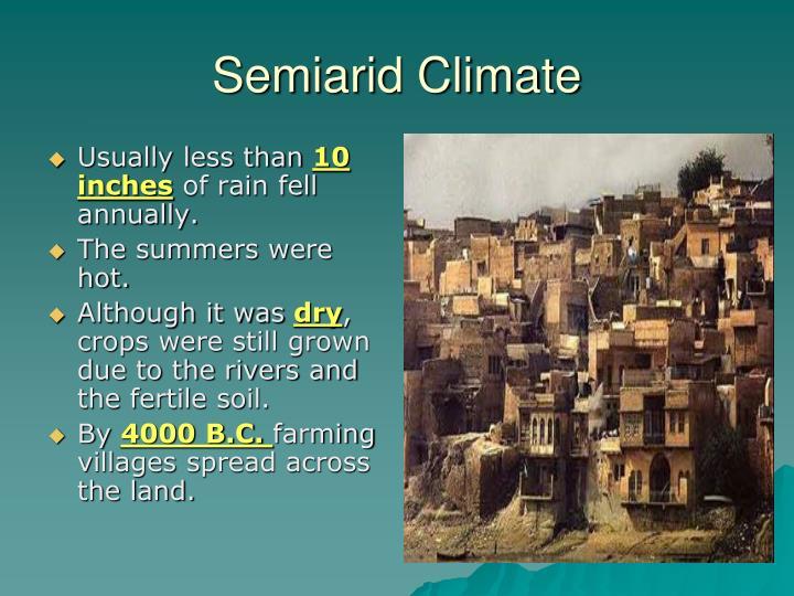 Semiarid Climate