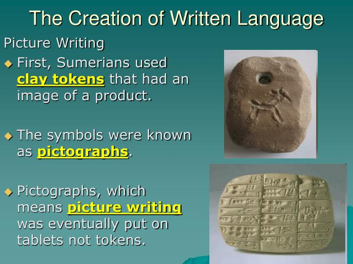 The Creation of Written Language