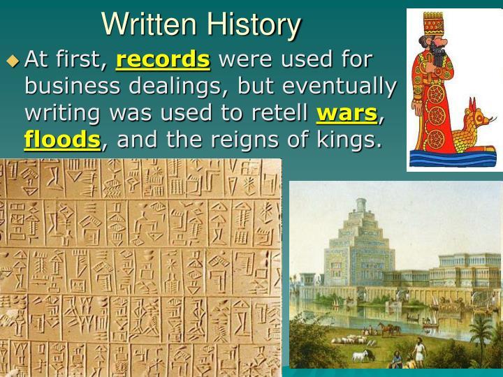 Written History