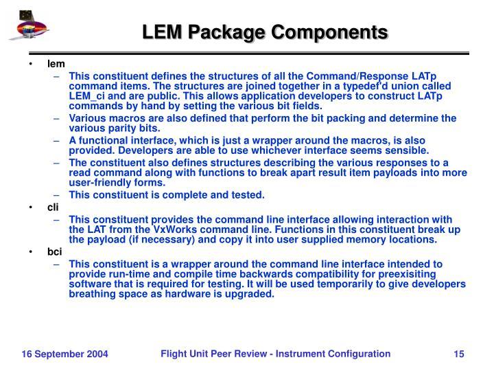 LEM Package Components