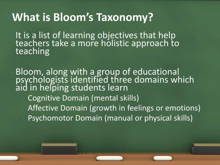 What is bloom s taxonomy