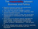 the inseparability between business and politics