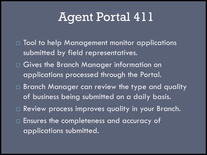 Agent Portal 411