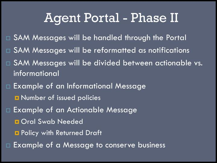 Agent Portal - Phase II