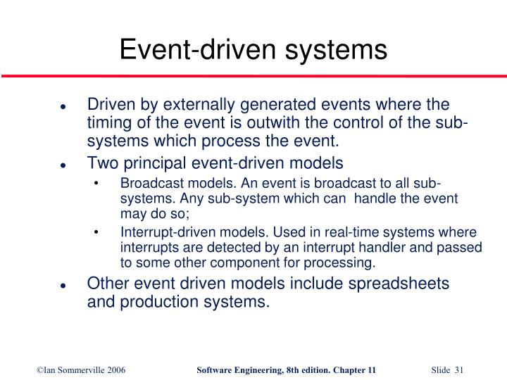 Event-driven systems