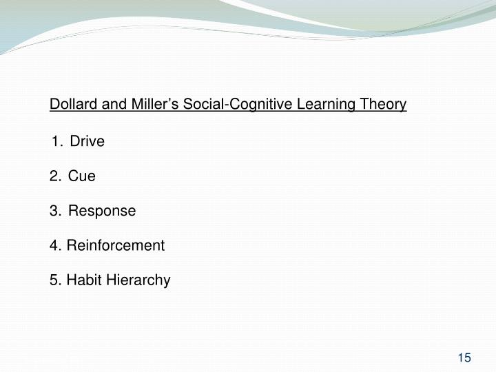 Dollard and Miller's Social-Cognitive Learning Theory
