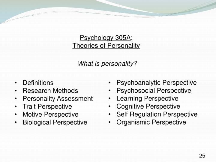 Psychology 305A