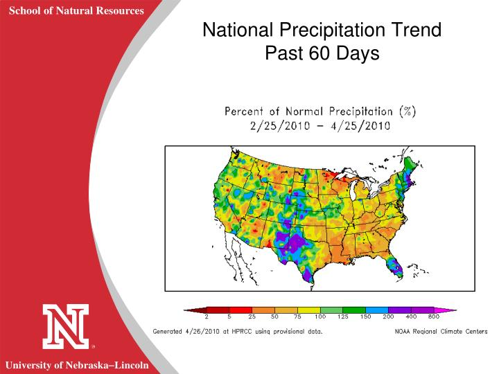 National Precipitation Trend