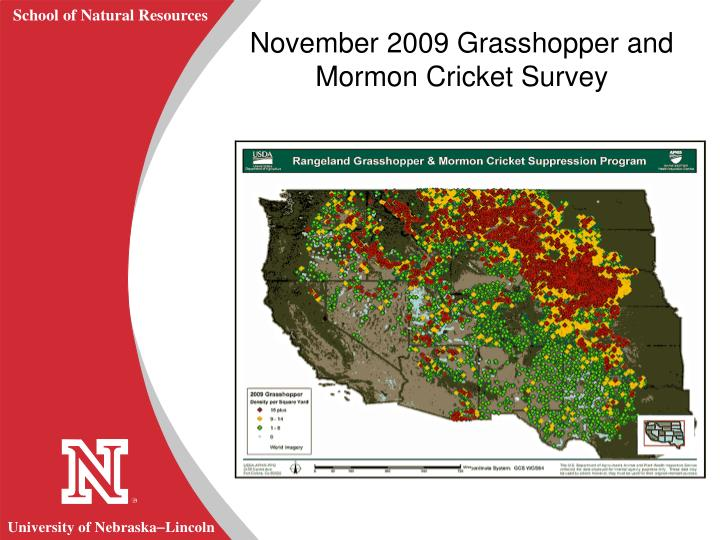November 2009 Grasshopper and Mormon Cricket Survey