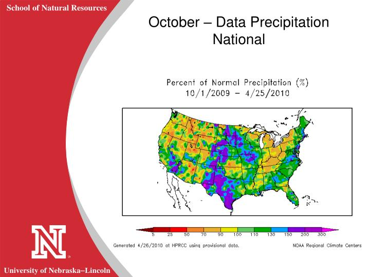 October – Data Precipitation