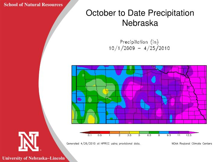 October to Date Precipitation