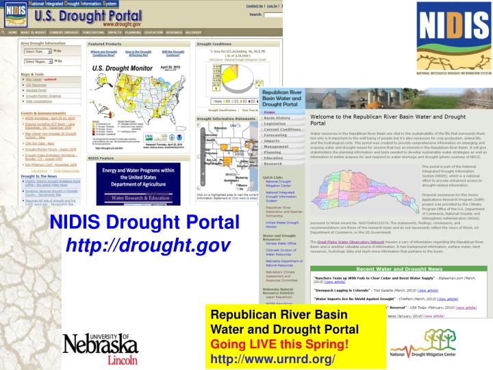 NIDIS Drought Portal