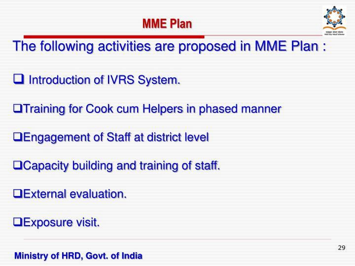 MME Plan