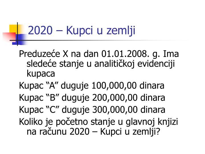 2020 – Kupci u zemlji