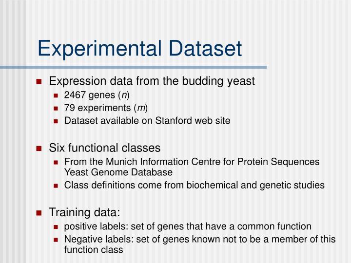 Experimental Dataset