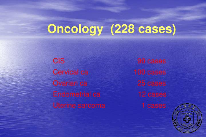 Oncology  (228 cases)