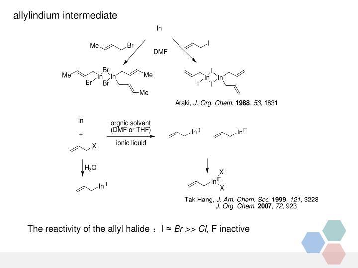 allylindium intermediate