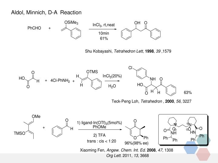 Aldol, Minnich, D-A  Reaction