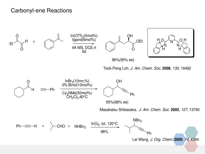Carbonyl-ene Reactions