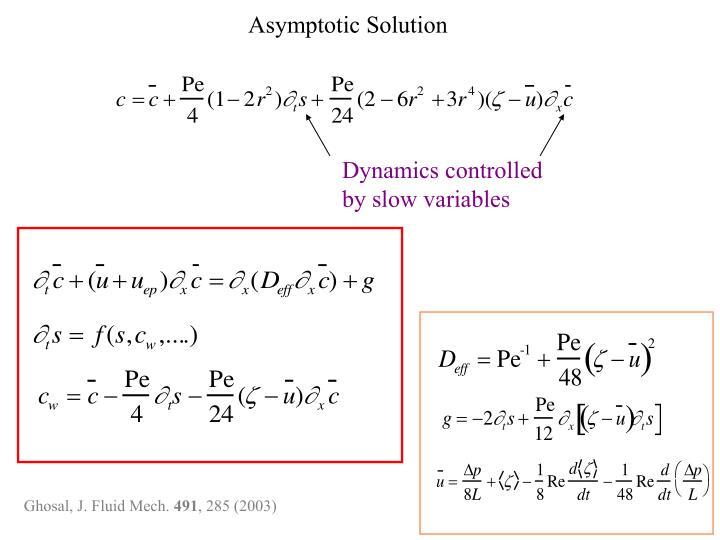 Asymptotic Solution