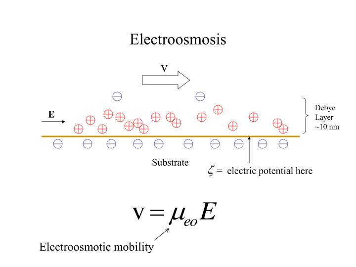 Electroosmosis