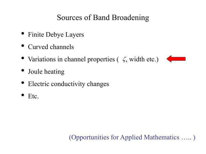 Sources of Band Broadening