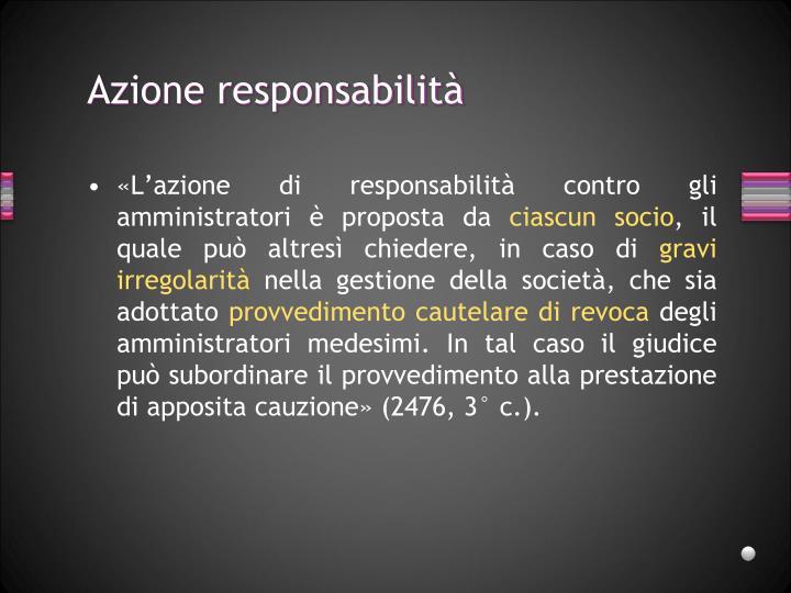 Azione responsabilità