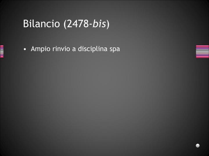 Bilancio (2478-