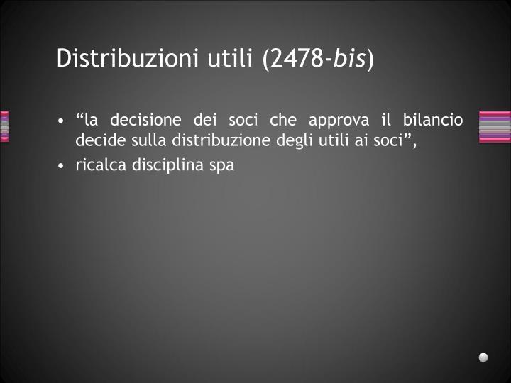 Distribuzioni utili (2478-
