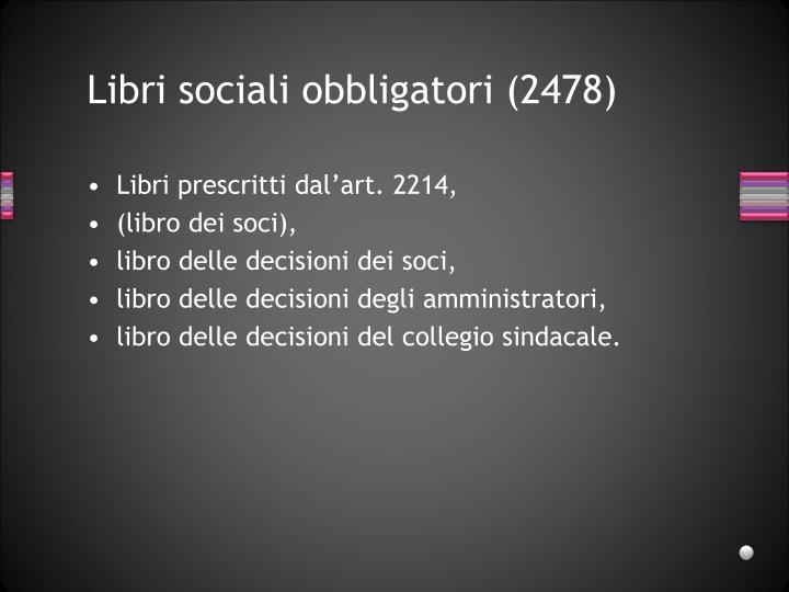 Libri sociali obbligatori (2478)