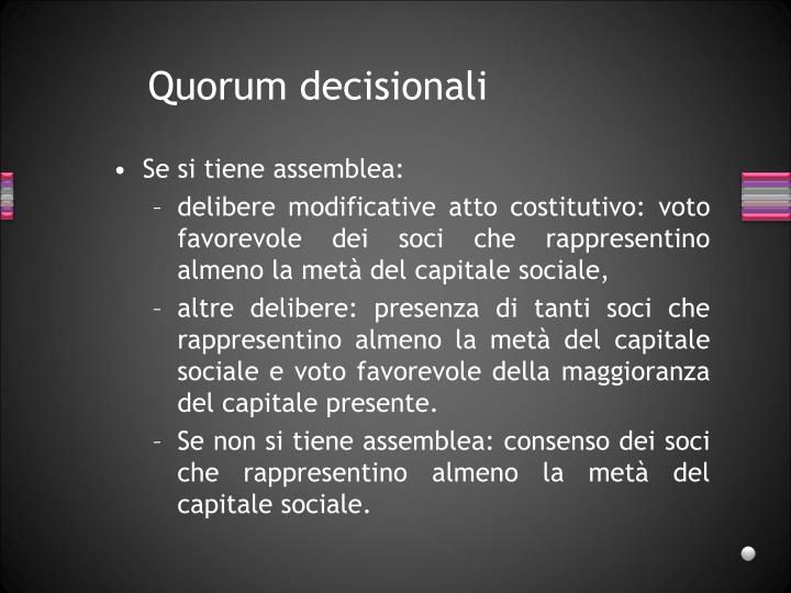 Quorum decisionali