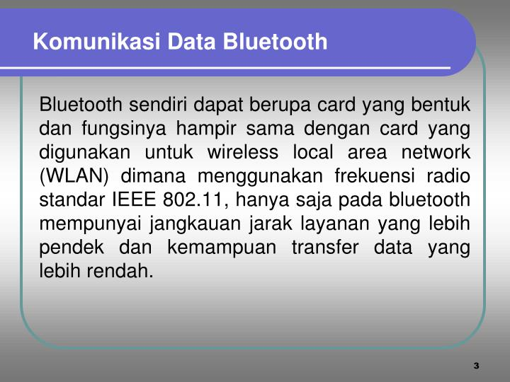 Komunikasi Data Bluetooth