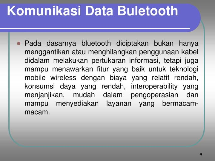 Komunikasi Data Buletooth