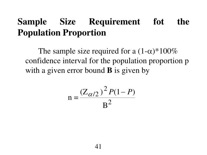 Sample Size Requirement fot the Population Proportion