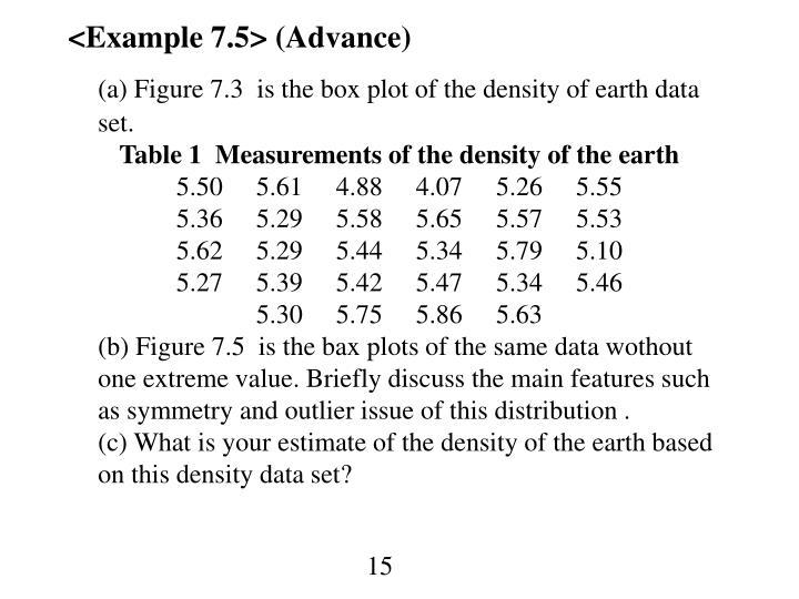 <Example 7.5> (Advance)