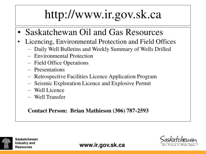 Saskatchewan Oil and Gas Resources