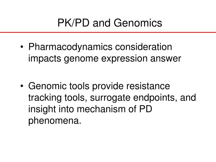 PK/PD and Genomics