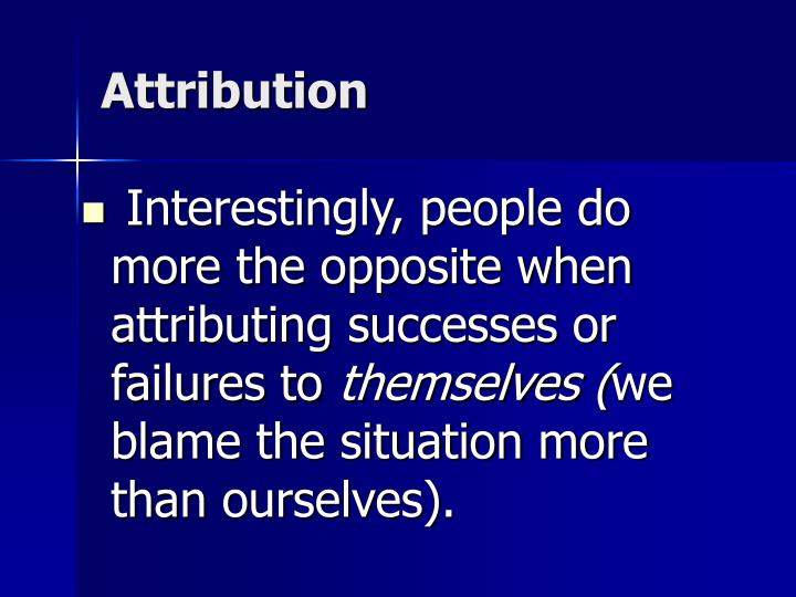Attribution