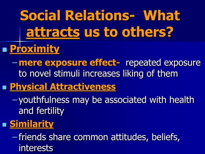 Social Relations-  What