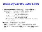 continuity and one sided limits4