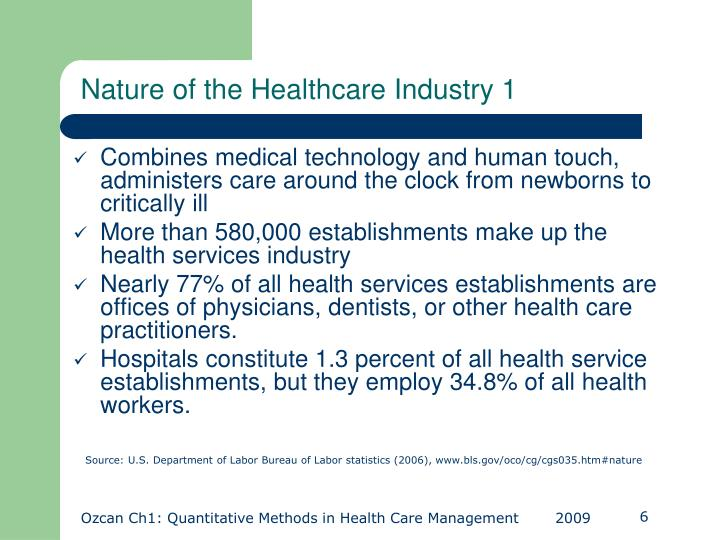 Nature of the Healthcare Industry 1