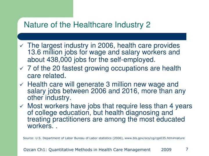 Nature of the Healthcare Industry 2