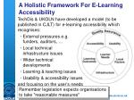 a holistic framework for e learning accessibility