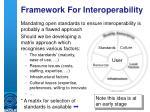 framework for interoperability